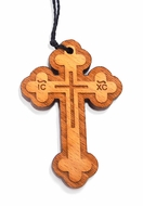 Wooden Cross With Rope, ICXC NIKA