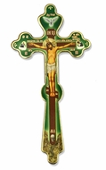 Wooden Hand Blessing Cross with Crucifixion
