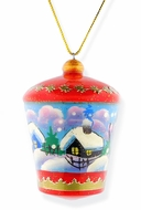 Wooden Lantern, Christmas Ornament with Winter Scene