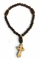 "Wooden Prayer Beads Rope ""Chotki""  with Cross, 30 Knots"