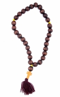 Russian Wooden Prayer Beads Rope, 30 Knots