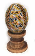 Wooden  Pysanky Egg on Stand, Gift Boxed