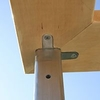 Screw for stair post to top rail attachment