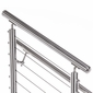 "2"" Round Top Rail For 2"" Round Stainless Steel Railing System"