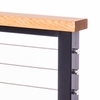 western red cedar cable railing top rail