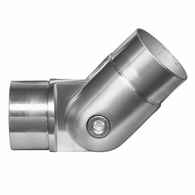 Adjustable elbow joint for quot round stainless steel