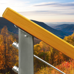 Alaskan Yellow Cedar Wood Cable Railings