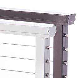 Aluminum Rectangular Top Rail & Components