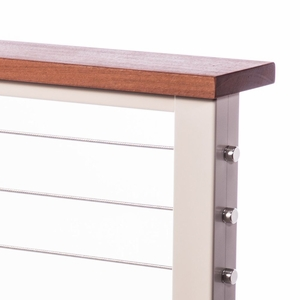 balau cable railing top rail