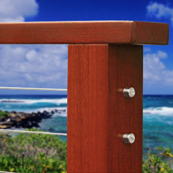 Balau Mahogany Wood Cable Railings