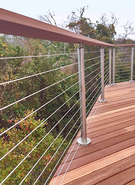 steel cable railing.