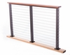 Balau on bronze aluminum cable railing