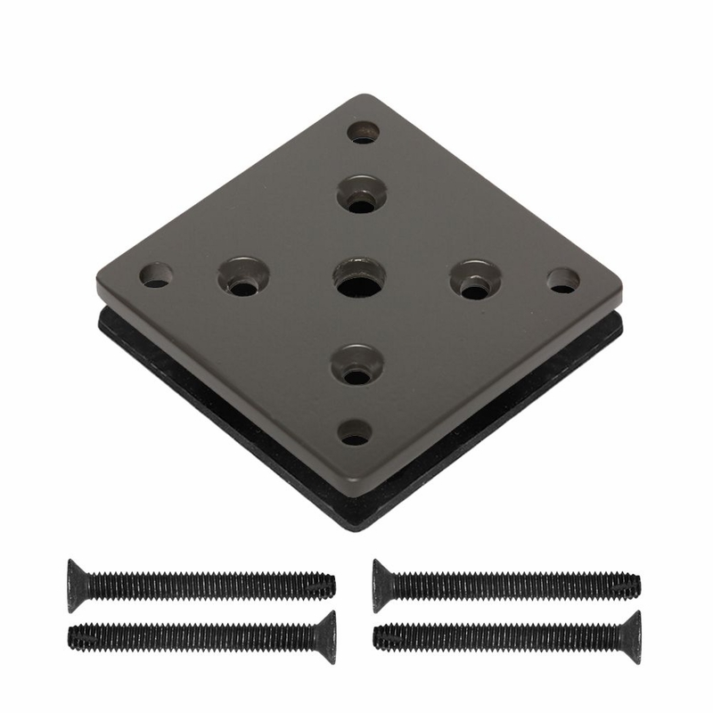 Base plate assembly for aluminum deck mount posts