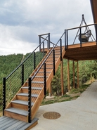 Black Aluminum Cable Railing - Boulder, CO