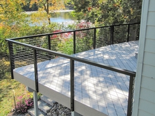 Black Aluminum Cable Railing - Lakeville, MN
