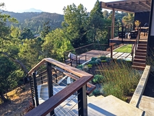 Black Aluminum Cable Railing - Mill Valley, CA