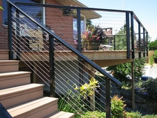 Black Aluminum Cable Railing - Seattle, WA