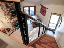 Black Aluminum Cable Railing - Taos Ski Valley, NM