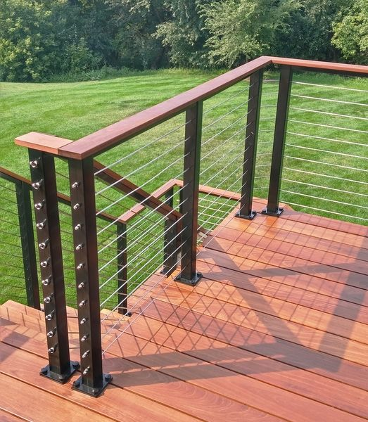 Black aluminum cable railing woodbury mn