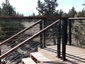 Black Aluminum Posts with Wood Top Rail C Patrick Bend Oregon