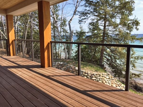 Bronze aluminum cable railing traverse mi