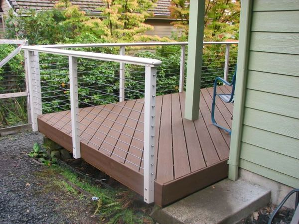 Clay aluminum cable railing corvallis or