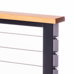 western red clear grain cedar cable railing top rail