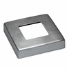 Top view of stainless square intermediate post cover plate