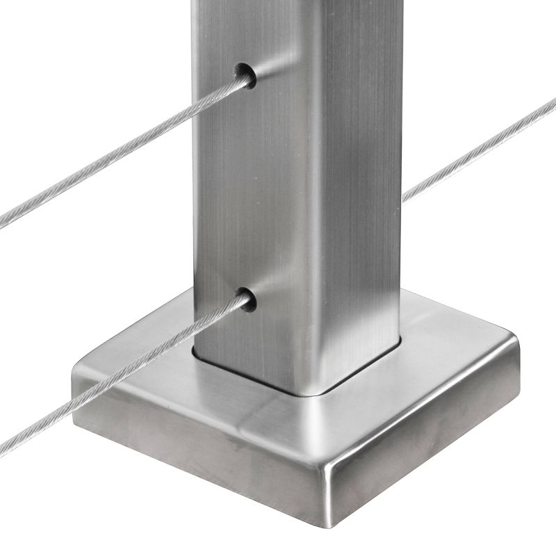 Square Metal Post cover plate for square stainless steel intermediate posts
