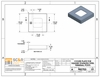 specification drawings for stainless square cover plate