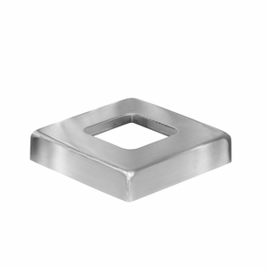 Cover plate for stainless square cable railing posts
