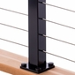 Cable Railing Post - Deck Mount, Intermediate