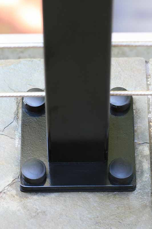 Decorative Hinged Er For 3 8in Lag As On Cable Deck Railing Systems