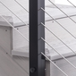 Cable Railing Post - Fascia Mount, Intermediate