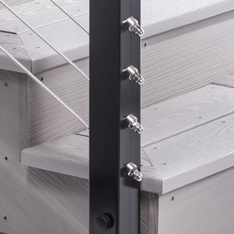 Cable Railing Post Fascia Mount Terminal