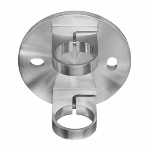 Circular fascia bracket for round cable railing posts
