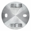 Head-on view of fascia bracket for round cable railing posts