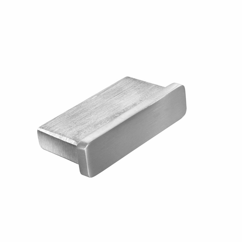 Flat stainless steel end cap for top rail