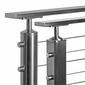 Flat Stainless Steel Top Rail Tube