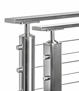 stainless steel flat cable railing top rail