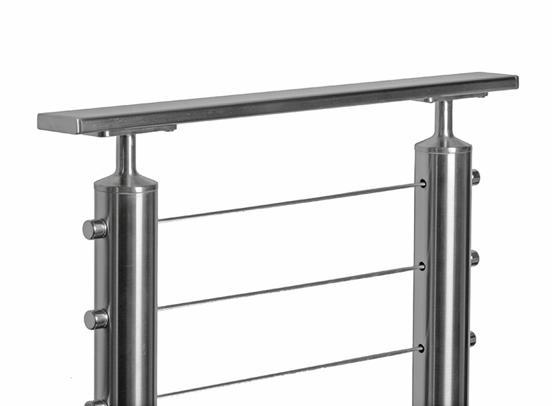 Flat stainless steel ft tube for top rail