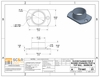 Spec drawings for stainless steel narrow post flange