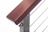 IPE brazilian walnut cable railing top rail stair
