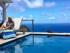 Ipe & Square Stainless Steel Cable Railing - Caribbean Island of Saba