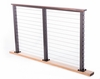 Ipe on bronze aluminum cable railing