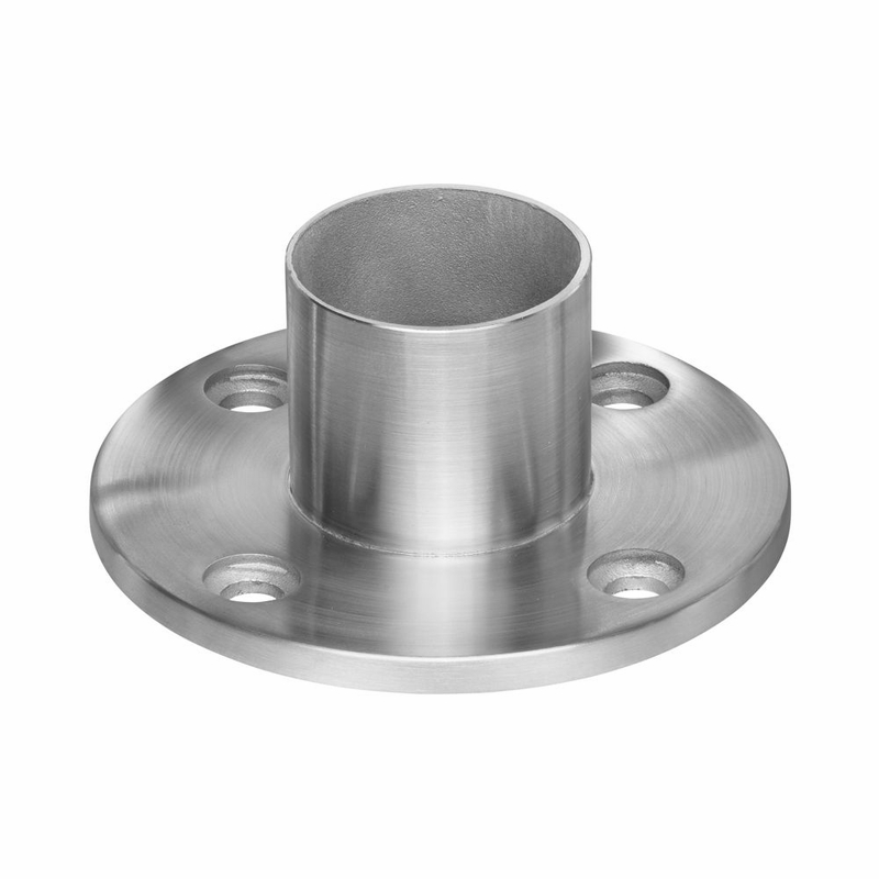 Long Neck Floor And Wall Flange For Round Intermediate