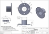 Spec drawings for cable railing stainless steel round flange