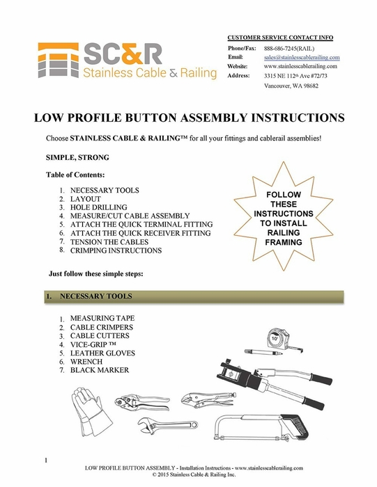 Low Profile Button - Assembly Instructions