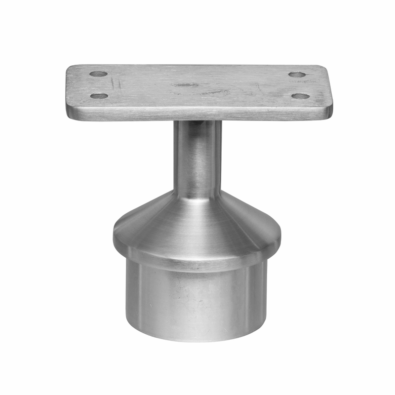 Post cap flat top rail mount for quot round