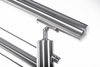 Adjustable round cable railing top rail mount in application